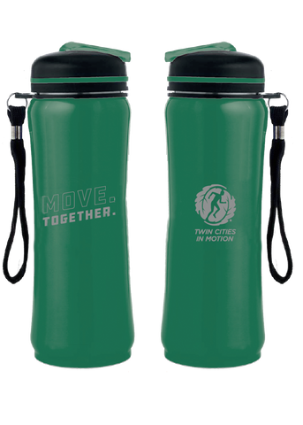 "Twin Cities In Motion ""Move. Together."" Water Bottle"