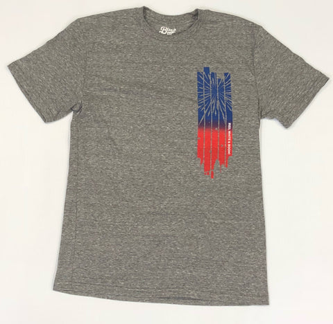 Red, White & Boom! Grey Tee