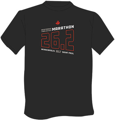 2017 Brook's Men's Marathon Tee -  Heather Black/Heather Stearling