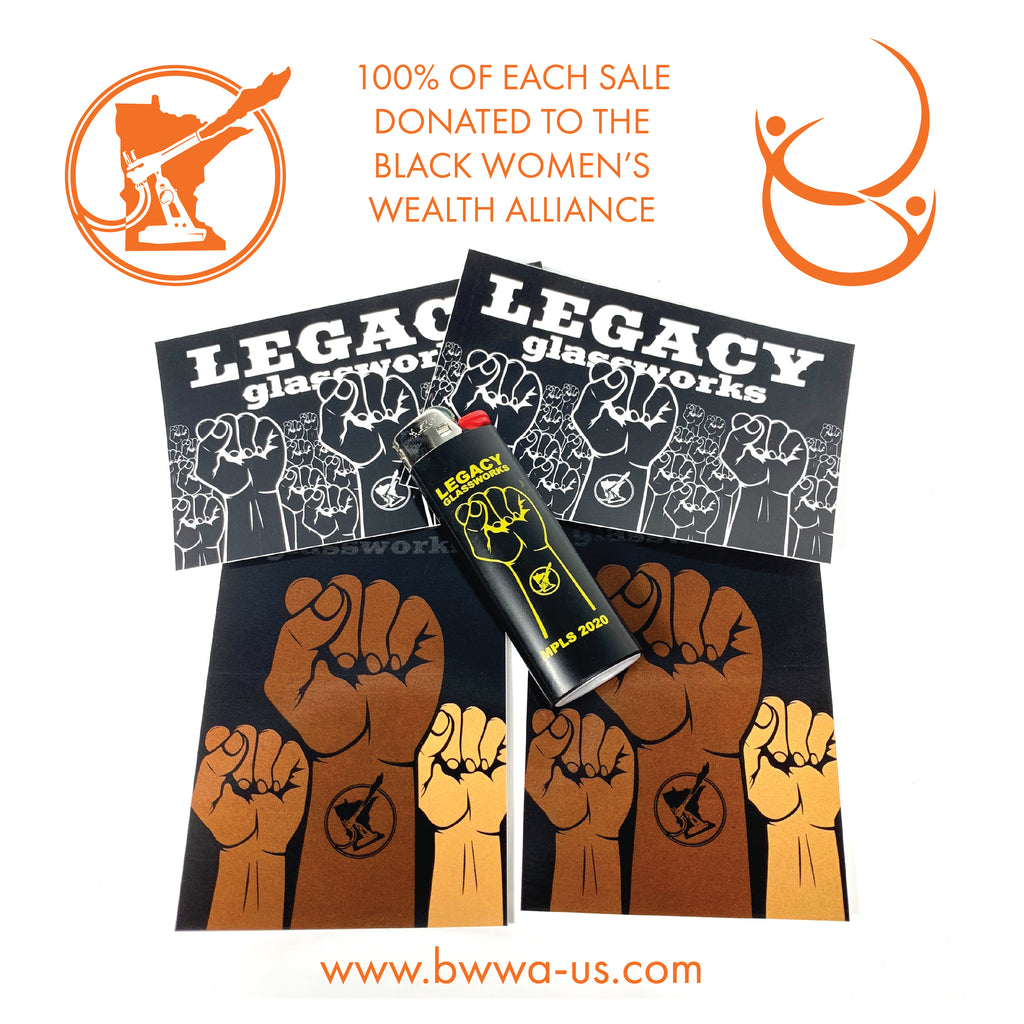 Black Women's Wealth Alliance Fundraiser Sticker & Lighter Pack