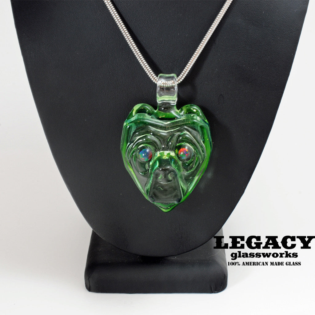 Cha Glass Illuminati Bear Pendant