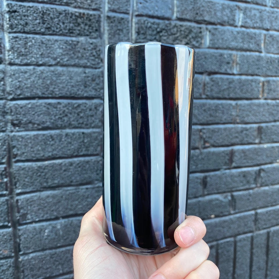 Derek Hostetler Pin Stripe Pint Glass