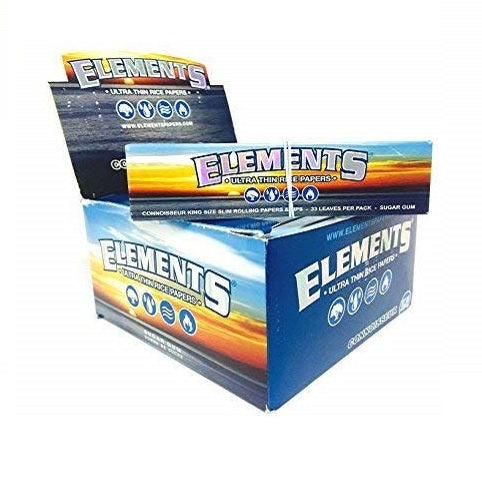Elements Rice Rolling Papers Connoisseur King Size