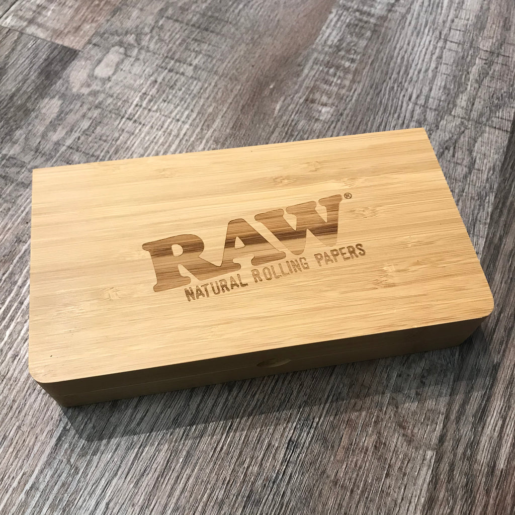 "Raw ""Backflip"" Magnetic Wooden Rolling Tray"