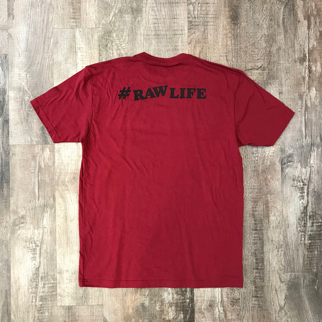 RAW Black on Red Shirt