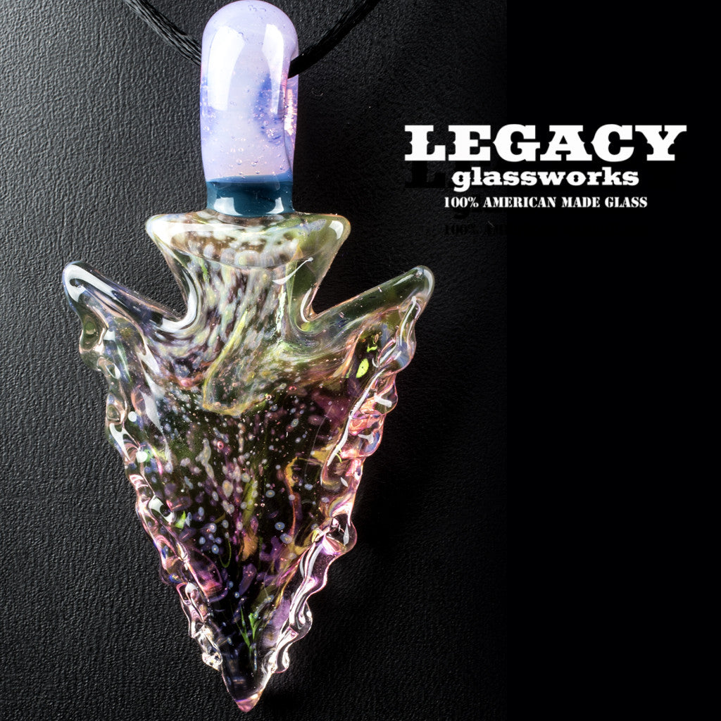 Elks That Run Fumed Arrowhead Pendant