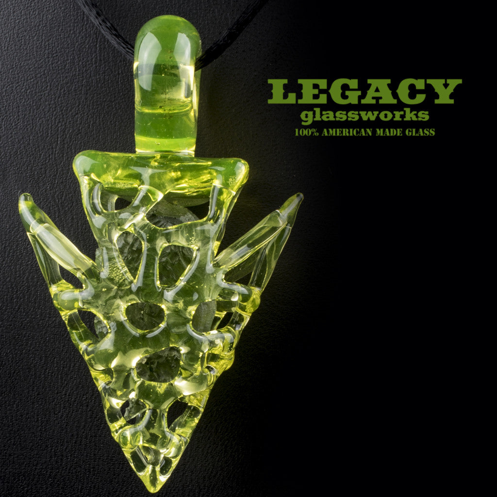 Elks That Run Illumanti Encased Moldavite Pendant