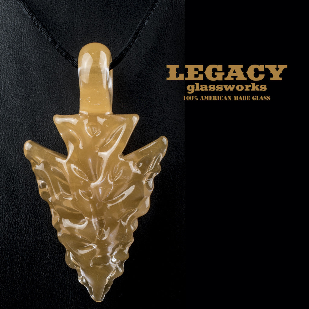Elks That Run Carved Arrowhead Pendant