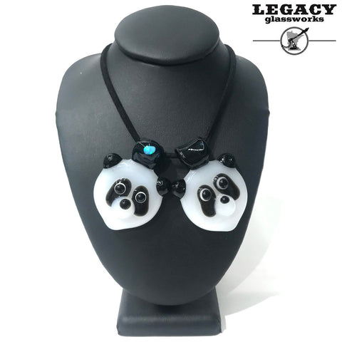 PTC Glass Panda Pendants