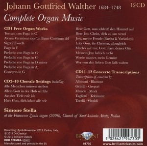WALTHER: COMPLETE ORGAN MUSIC (12 CDS)