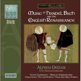Alfred Deller: The Complete Vanguard Recordings Volume 4 - Music of Handel, Bach, and the English Renaissance 6CD set