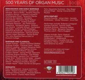 500 YEARS OF ORGAN MUSIC (50 CDS)