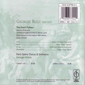 BIZET:THE PEARL FISHERS - PRETRE, GEORGES (2 CDs)