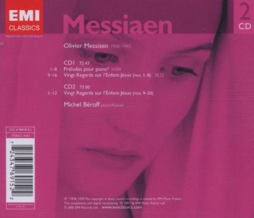 MESSIAEN: VINGT REGARDS - BEROFF, MICHEL (2 CDs)