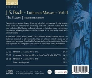 Bach: Lutheran Masses, Vol. 2 - The Sixteen, Harry Christophers