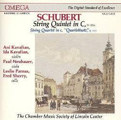 Schubert: Quintet in C; Quartettsatz - Chamber Music Society of Lincoln Center