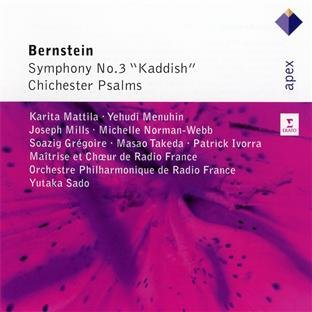 "BERNSTEIN: SYMPHONY NO. 3 ""KADDISH""; CHICHESTER PSALMS - MATTILA; MENUHIN; MAITRISE DE RADIO FRANCE; CHOEUR DE RADIO FRANCE; ORCHESTRE PHILHARMONIQUE DE RADIO FRANCE"