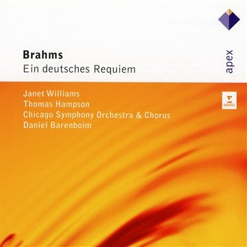 BRAHMS: EIN DEUTSCHES REQUIEM - WILLIAMS; HAMPSON; BARENBOIM; CHICAGO SYMPHONY ORCHESTRA