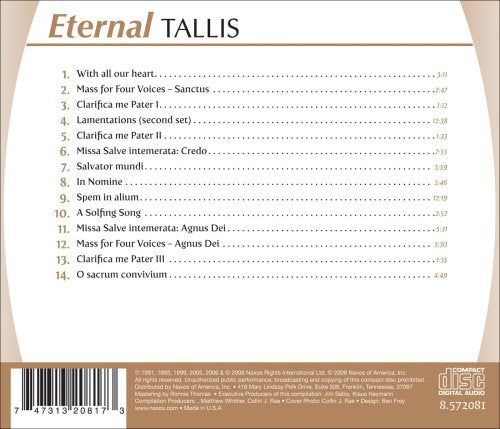 ETERNAL TALLIS - OXFORD CAMERATA, ROSE CONSORT, CARL SMITH