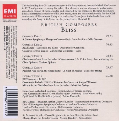 BRITISH COMPOSERS: ARTHUR BLISS (5 CDS)