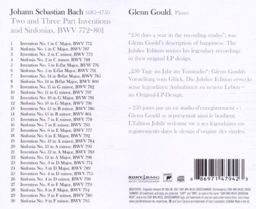 Bach: The Two and Three Part Inventions - Glenn Gould, piano