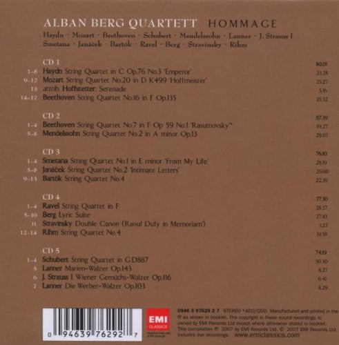 Alban Berg Quartett - Hommage (Mozart, Stravinsky, Beethoven and Others) 5 CDs