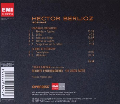 BERLIOZ: SYMPHONIE FANTASTIQUE, DEATH OF CLEOPATRA - RATTLE, GRAHAM, BERLIN PHILHARMONIC