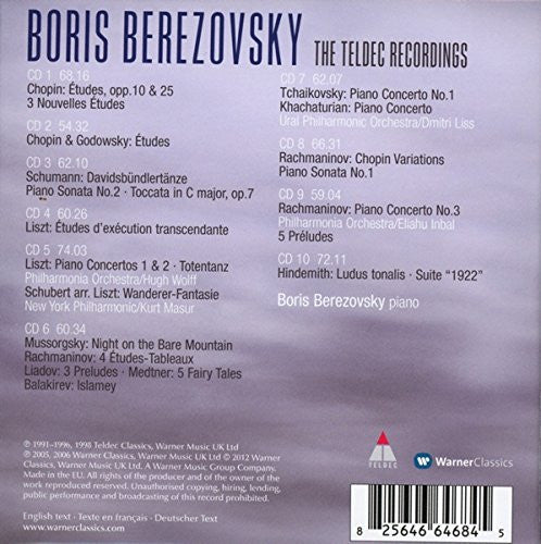 Boris Berezovsky - The Teldec & Warner Classics Recordings (10 CDs)