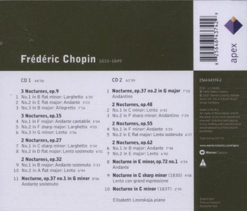 CHOPIN, FREDERIC: NOCTURNES (COMPLETE) (2 CDs)