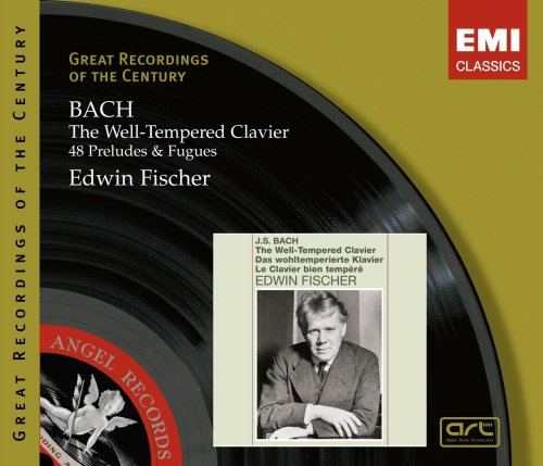 BACH: THE WELL-TEMPERED CLAVIER, COMPLETE - EDWIN FISCHER (3 CDS)