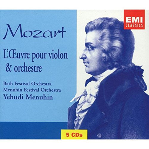 Mozart: Works for Violin and Orchestra - Yehudi Menuhin (5 CDs)