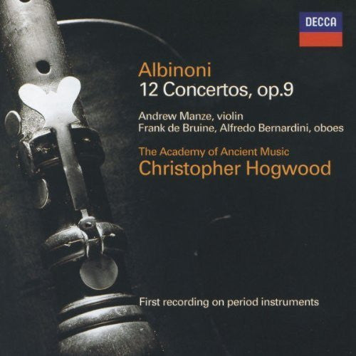 Albinoni: 12 Concertos, Op. 9 - Christopher Hogwood, Academy of Ancient Music (2 CDs)