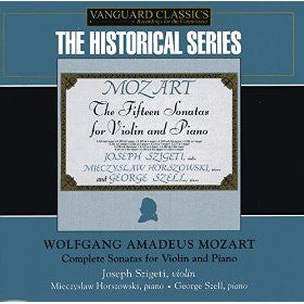 Mozart: The Fifteen Sonatas for Violin and Piano - Joseph Szigeti, Miecslaw Horszowski, George Szell (4 CDs)