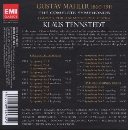 Klaus Tennstedt: The Complete Mahler Recordings (16 CDs)