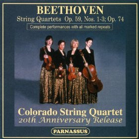Beethoven: String Quartets Opp 59 and 74 - Colorado String Quartet (2 CDs)