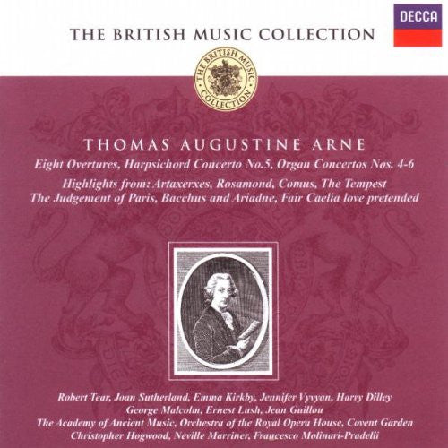 ARNE: 8 OVERTURES, CONCERTOS, AND SONGS - ACADEMY OF ANCIENT MUSIC (2 CDS)