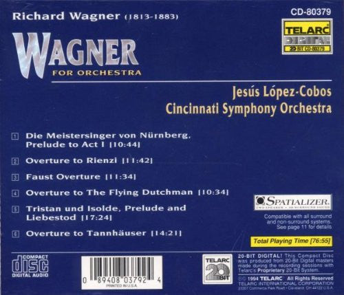 Wagner For Orchestra - Jesus Lopez-Cobos, Cincinnati Symphony Orchestra