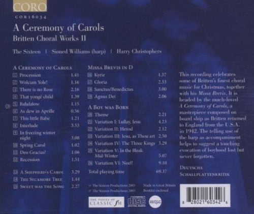 Britten, B.: Choral Works, Vol. 2  - A Ceremony of Carols / A Boy Was Born / A Shepherd's Carol