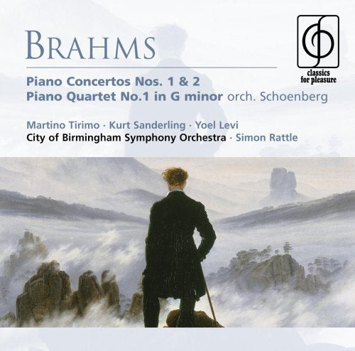 BRAHMS: PIANO CONCERTOS 1 & 2, PIANO QUARTET NO. 1 (ARR. FOR ORCHESTRA) - TIRIMO; RATTLE (2 CDS)