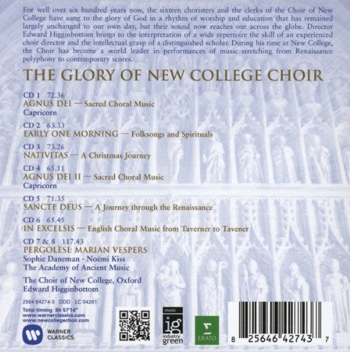 Edward Higginbottom: The Glory Of New College Choir (8 CDs)