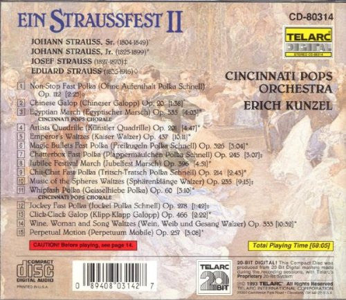 Strauss: Ein Straussfest II - Erich Kunzel and the Cincinnati Pops Orchestra