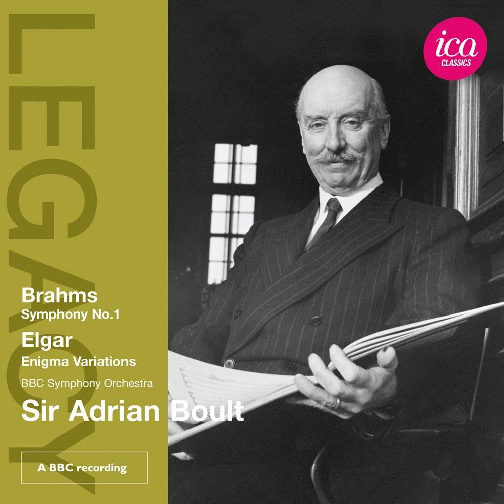 SIR ADRIAN BOULT CONDUCTS BRAHMS & ELGAR - BOULT; BBC SYMPHONY ORCHESTRA