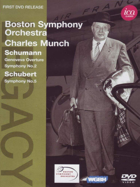 CHARLES MUNCH CONDUCTS SCHUMANN & SCHUBERT (DVD) - BOSTON SYMPHONY ORCHESTRA; MUNCH