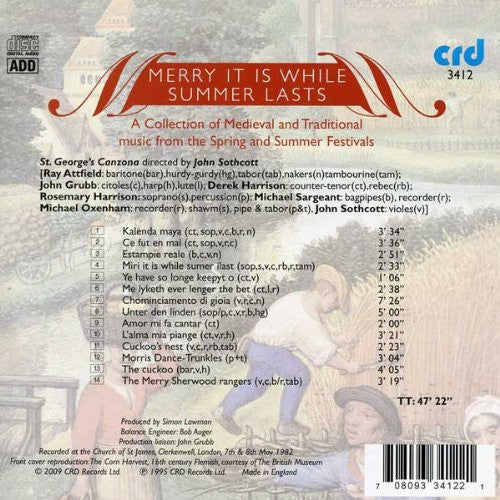 Merry It Is While Summer Lasts - Medieval and Traditional Music from the Summer Festivals