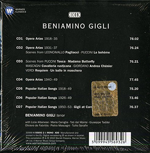 ICON: BENIAMINO GIGLI - TENOR LEGEND