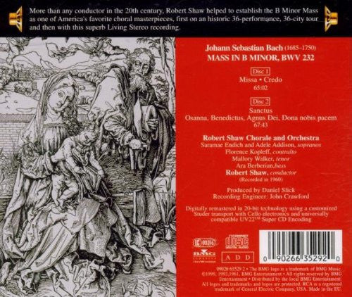 Bach: Mass in B Minor - Robert Shaw Chorale and Orchestra (2 CDs)