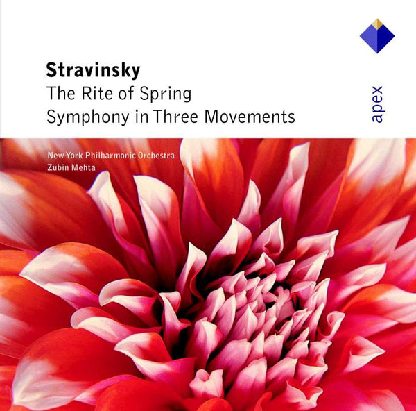STRAVINSKY: LE SACRE DU PRINTEMPS; SYMPHONY IN 3 MOVEMENTS - MEHTA; NEW YORK PHILHARMONIC