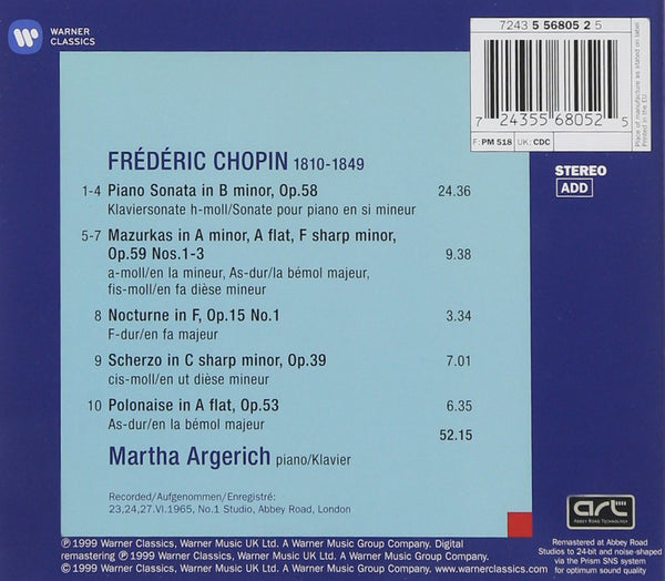 CHOPIN - MARTHA ARGERICH: THE LEGENDARY 1965 RECORDING