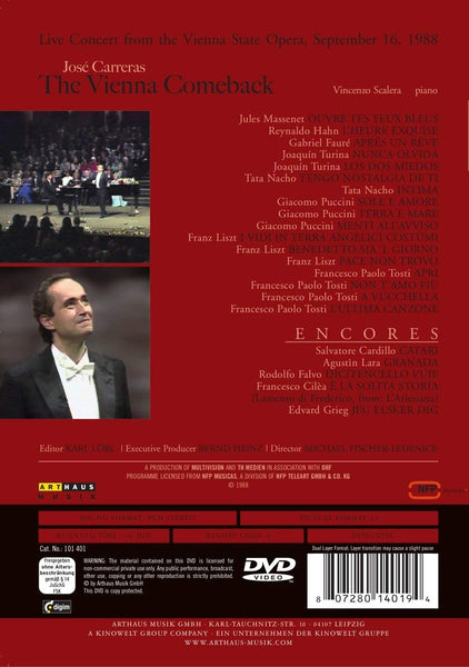 JOSE CARRERAS: THE VIENNA COMEBACK - JOSE CARRERAS; VINCENZO SCALERA