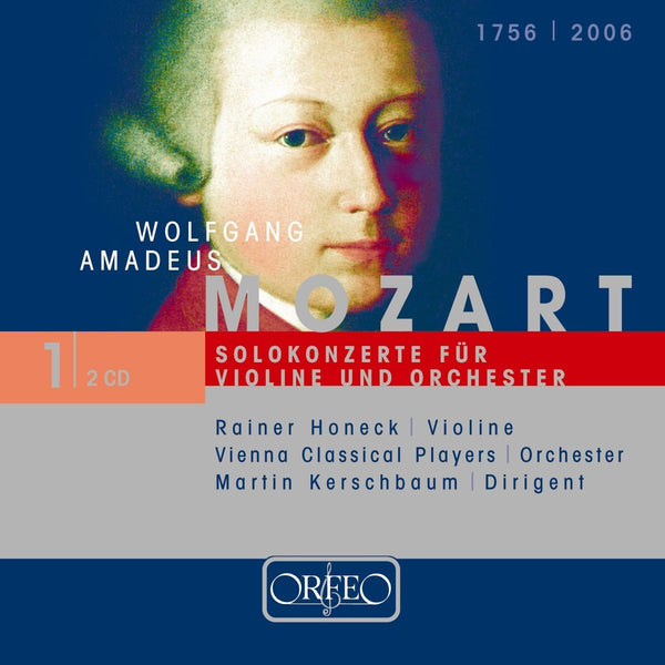 MOZART: SOLO CONCERTOS FOR VIOLIN AND ORCHESTRA - HONECK; LEA; VIENNA CLASSICAL PLAYERS; KERSCHBAUM (2 CDS)